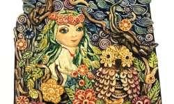 2 Лісова Мавка вик. Гапчук Марія 9років викладач Дьордяй С.І. декоративне мистецтво, біокераміка